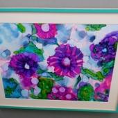 Aqua-framed-floral