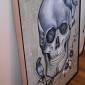 Canvas-skull